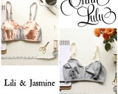 Bralette Sewing Pattern Bundle Ohhh Lulu Jasmine & Lili Bra PDF Instant Download Vintage Style Bralette Pattern for Woven Fabric