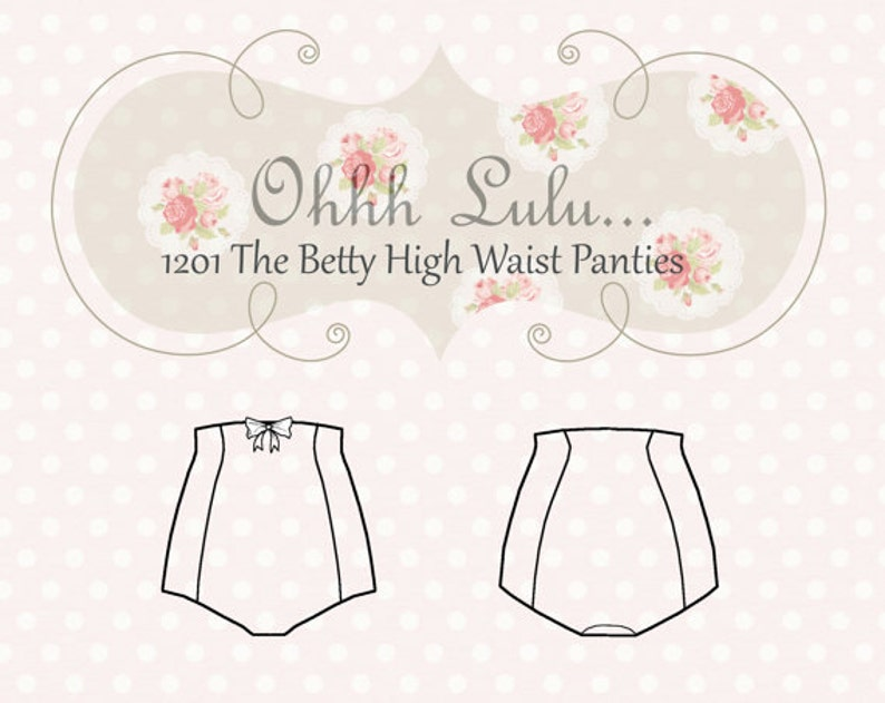 High Waist Panties Sewing Pattern Vintage Style Pin Up Ohh image 0