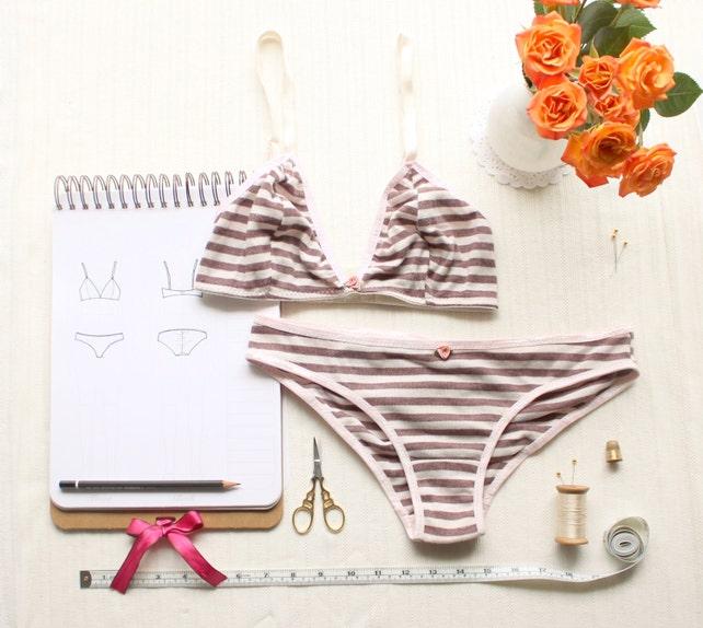 Bra And Panties Set Pdf Sewing Pattern Bundle Ohhh Lulu 1306 Etsy