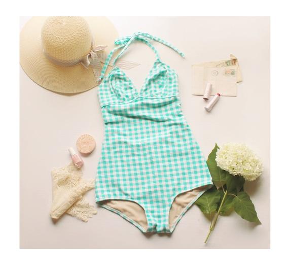 Vintage Style One Piece Bathingsuit Swimsuit Sewing Pattern | Etsy