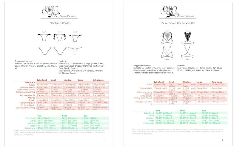 ff2dbbc5dd776 Racer Back Bra and Panties Sewing Pattern Bundle Ohhh Lulu