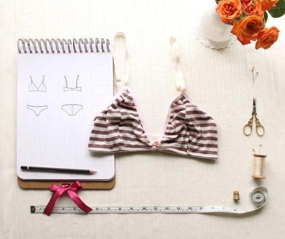 Bra Sewing Pattern Ohhh Lulu 1306 Brigette Triangle Bra Pdf Etsy