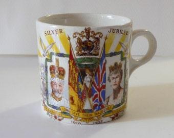 George V & Queen Mary, Silver Jubilee Mug, 1935.