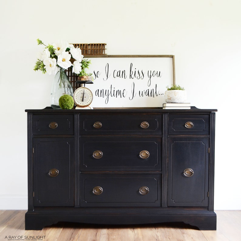 sold out black buffet farmhouse buffet painted furniture etsy rh etsy com black buffet furniture sydney black buffet furniture sydney
