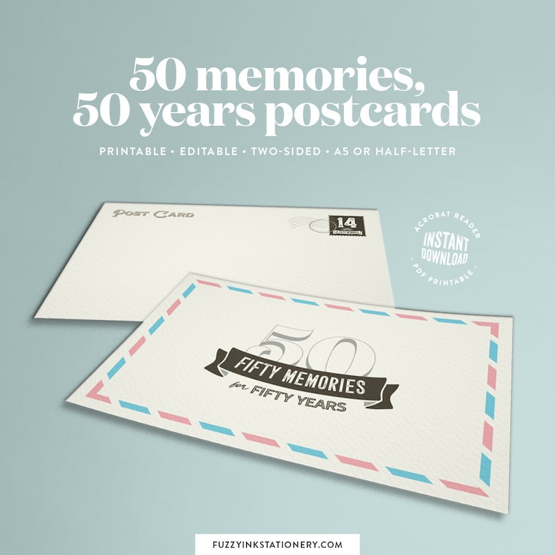 Create A Unique 50th Birthday Or Wedding Anniversary Gift With