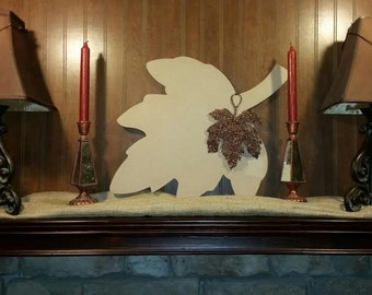 Wooden Fall Maple Leaf Decor Wall Hanging
