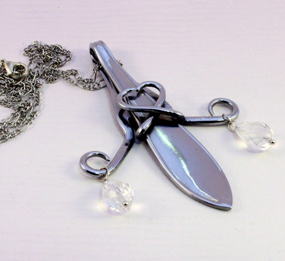 Pendent Necklace Silverware art Free Shipping Necklace