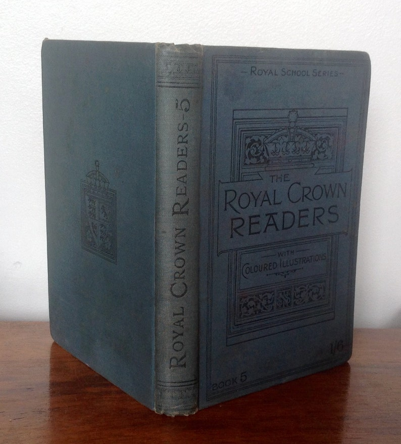 Antique Book The Royal Crown Readers, Book Five  1896