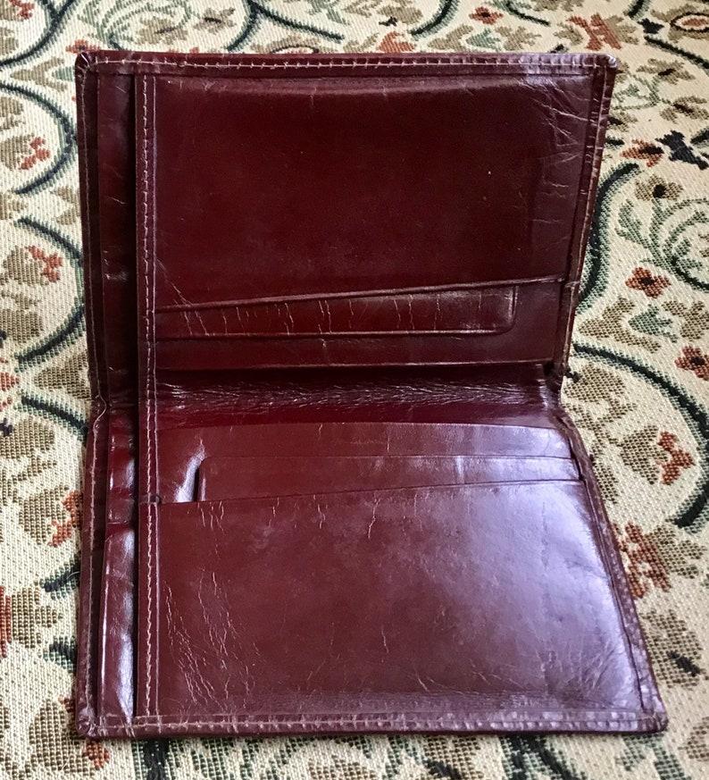 52374ec89 Vintage Chestnut Leather Wallet. 1960's. | Etsy