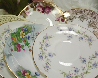 12 Saucers for Mix and Match