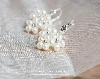 hanging freshwater pearl earrings for wedding