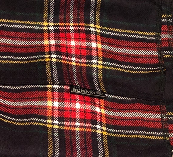 Plaid Infinity Scarf in Black, Red, Yellow, White & Green, Luxuriously Soft Loop/Circle Scarf