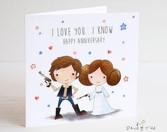 Star Wars-Chewbacca st-valentin carte-Mari Petit Ami Femme Petite Amie