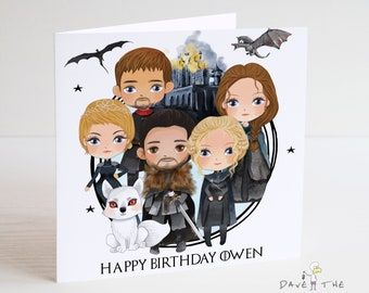 Game Of Thrones Personalised Birthday Card
