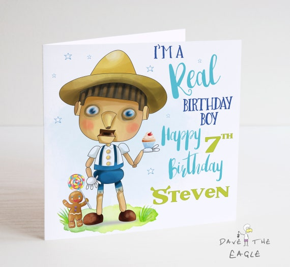 Shrek Personalised Birthday Card Pinocchio Etsy