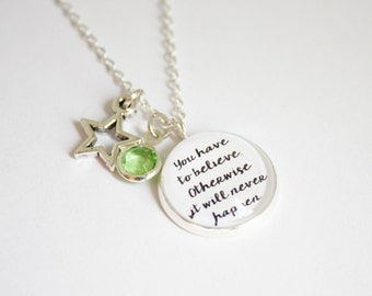 Stardust quote necklace. Neil Gaiman. Tristran Thorn. Yvaine. Stormhold. Tristan. Have to believe. Unavoidably detained. Personalized
