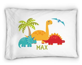 Personalized Dinosaurs in Boxers Pillowcase STANDARD SIZE