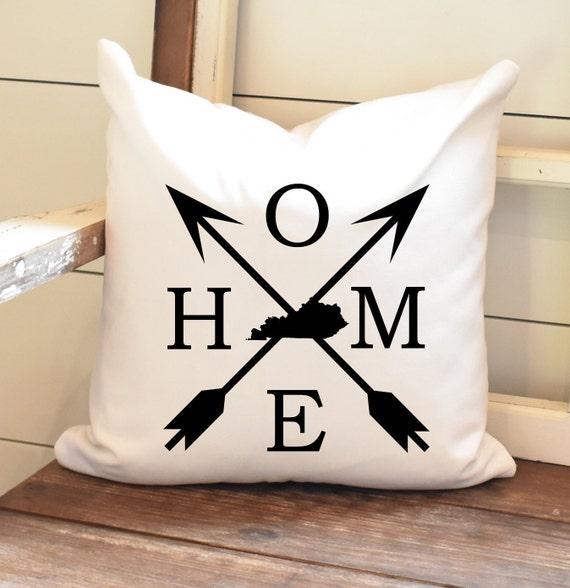 Home Pillow Cover Kentucky Throw Pillow Farmhouse Decor Etsy