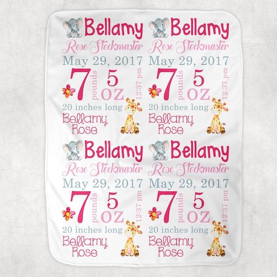 Personalized Birth Stats Baby Blanket~Dinosaur Blanket~Monogram Blanket~Birth Announcement~Photo Prop~Name Blanket~Baby gift~Dino Blanket