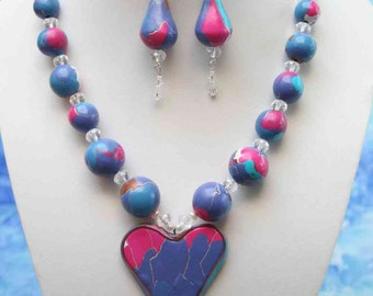 necklace  heart stir