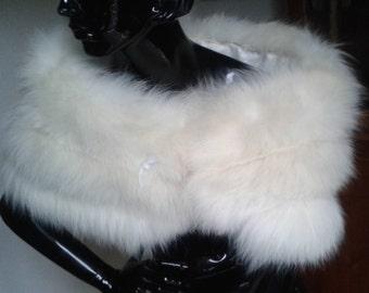 Vintage Ivory Fox Fur Stole SOLD