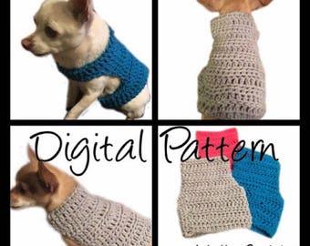 Dog Sweater Medium Size Crochet Pattern Dog Pet Maltese Etsy