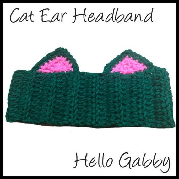 Cat Ears Crochet Headband Pattern Pdf All Sizes Newborn To Etsy