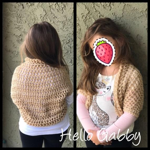 Child Shrug Crochet Pattern Size 78 Crochet Shawl Scarf Etsy
