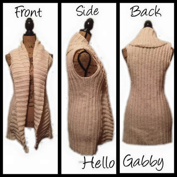 Vest Crochet Pattern For Small Medium Crochet Sleeveless Etsy
