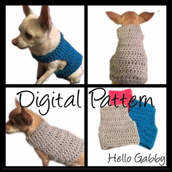 Dog Sweater X-Small thru Medium Size CROCHET PATTERN Dog Pet | Etsy