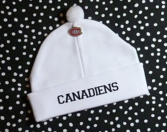 cc74c6ed56f Newborn Baby Hat for the Montreal Canadiens Fan Infant Cap Charm Beanie