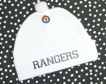86e59d42c80 Newborn Baby Hat for the Texas Rangers Fan Infant Cap Charm Beanie
