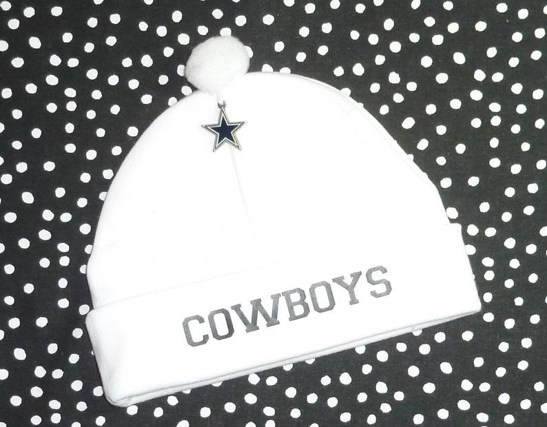 finest selection 6c402 ea1a7 Newborn Baby Hat for the Dallas Cowboys Fan Infant Cap Charm Beanie