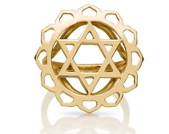 chakra ring, anahata chakra ring, heart chakra ring