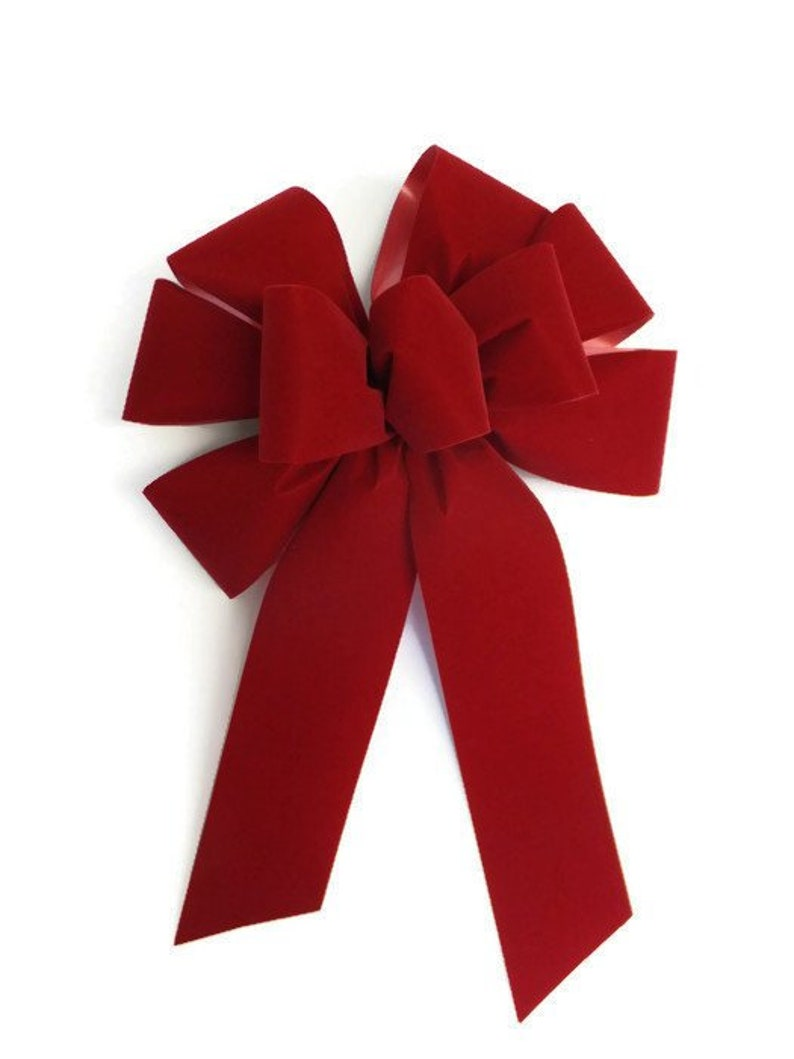 How to make a bow for a wreath with unwired ribbon