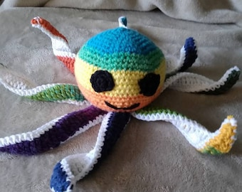 Rainbow Crochet Octopus