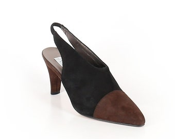 f7864890f2d Vintage Studio Paolo Italy Two-Tone Suede Heels sz 7.5 US NWOT!