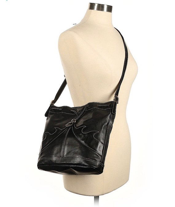 Rappi Italy Black Italian Leather Shoulder/Crossbo