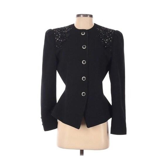 Lillie Rubin wool vintage Beaded Jacket