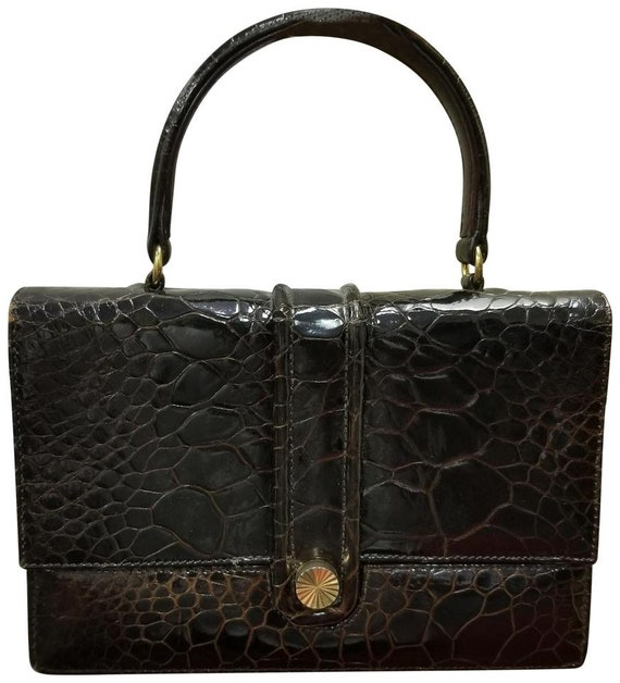 Vintage 50's-60's Genuine Alligator Skin Leather T