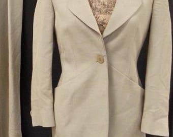 Giorgio Armani Tan Vintage Wool Blazer Sz 8