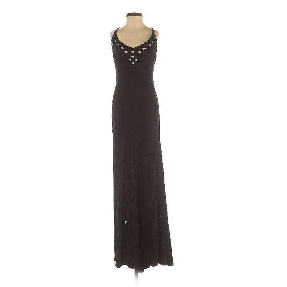 Nicole Bakti Black Cut-out Midi/Maxi Dress XS