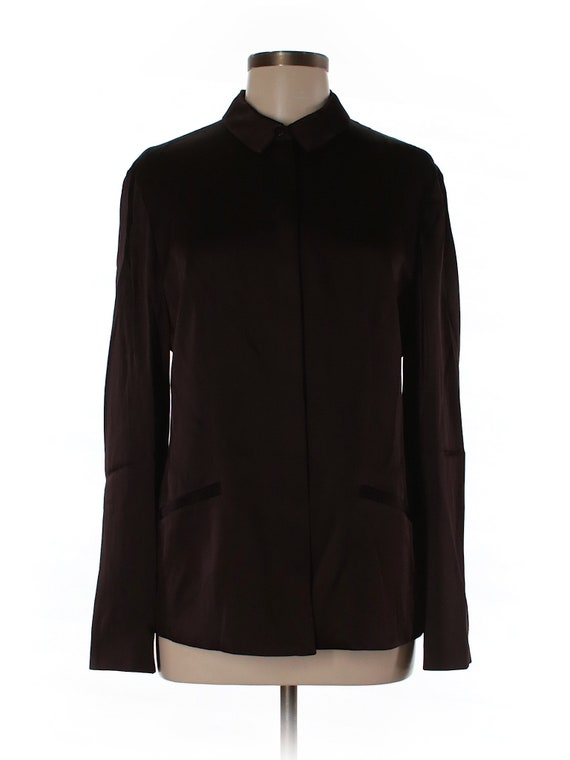 Armani Collezioni Brown/Plum Satin Blouse/Jacket B