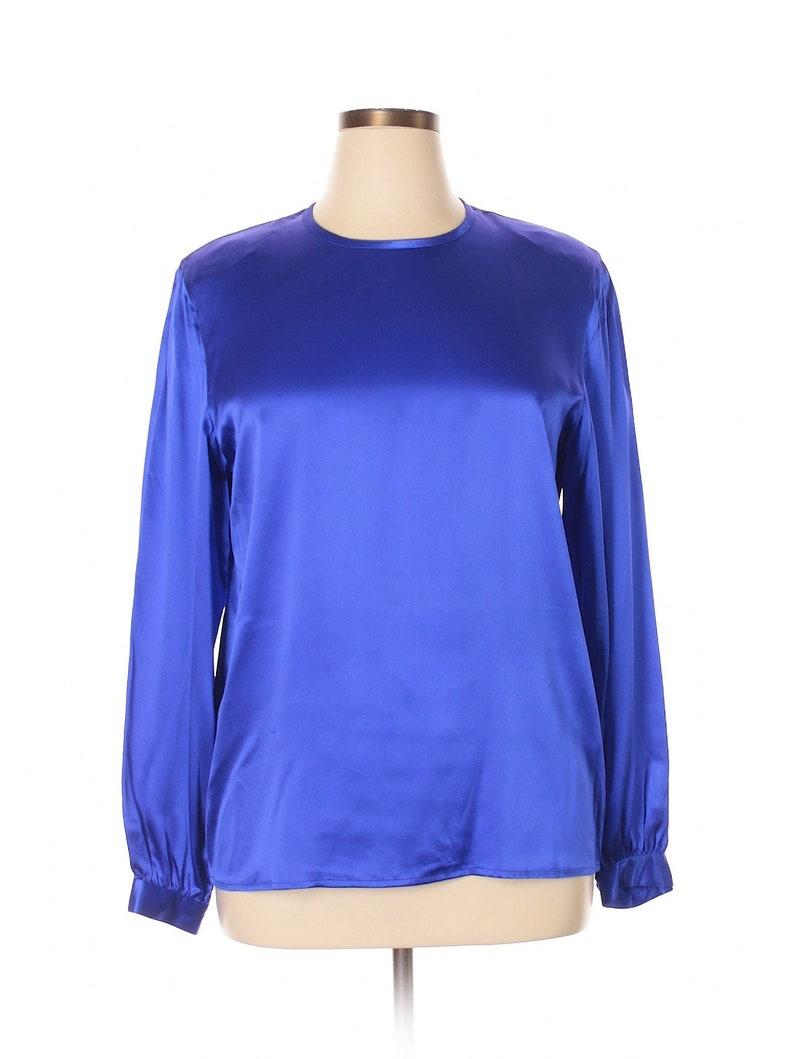 717ed9ef1d2d3 Starington Saks Fifth Ave 100% Silk Blouses NEW Royal Blue