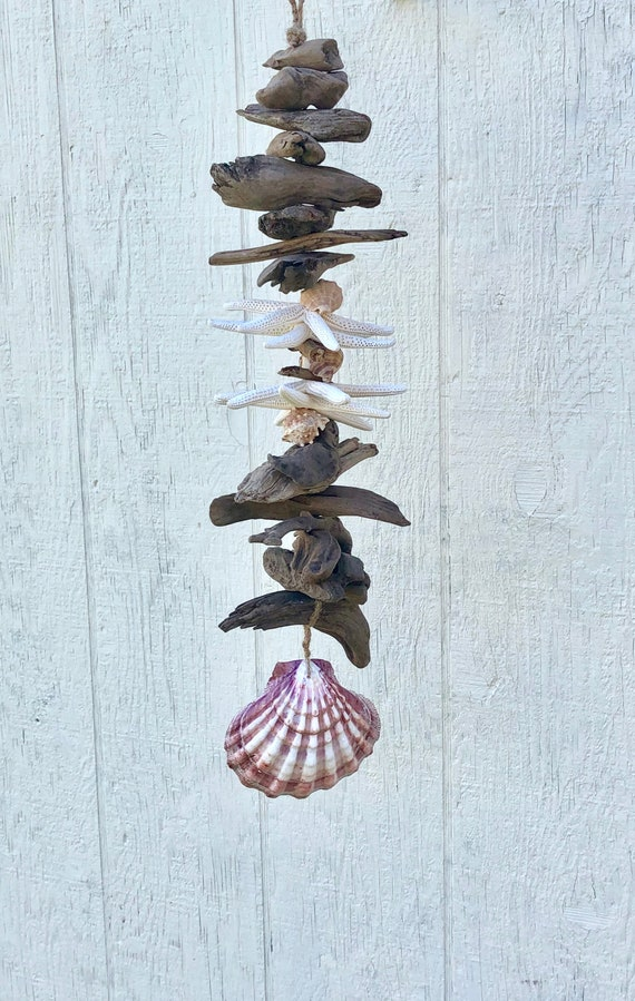Shell mobile Coastal decor Coastal wall art Beach decor Coastal wind chime Beach house Seashell wind chime
