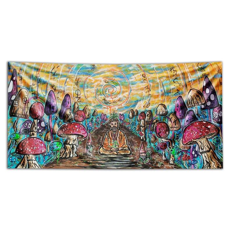 Tapestry of Shamanistic Explorer.Third eye. Terence Mckenna image 0