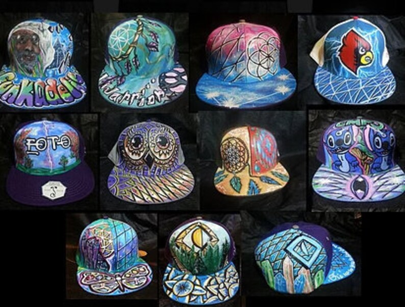 f21a275ac Custom Hand Painted Grassroots hat. Made to order.Snapback, fitted, or dad  hat. one of a kind