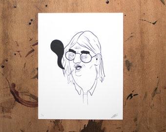 smoking // screen print