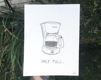 half full // riso print