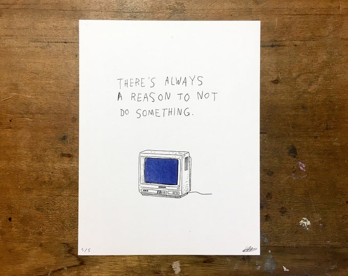Featured listing image: reasons // riso print